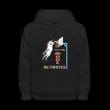 Basketball Magical Mode Activated Unicorn Outline - Kids' Hoodie