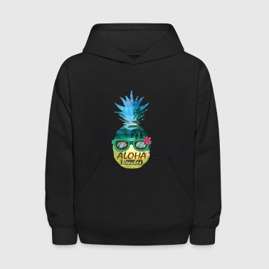 Aloha Beaches Pineapple Sunglasses Hawaiian Shirt - Kids' Hoodie