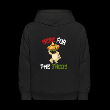 Cinco De Mayo Pug Sombrero - Here For The Tacos - Kids' Hoodie