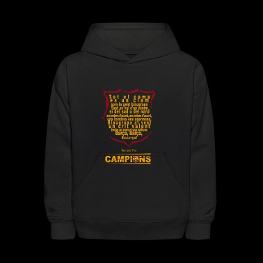 Lyrics of the FC Barcelona Anthem - Kids' Hoodie