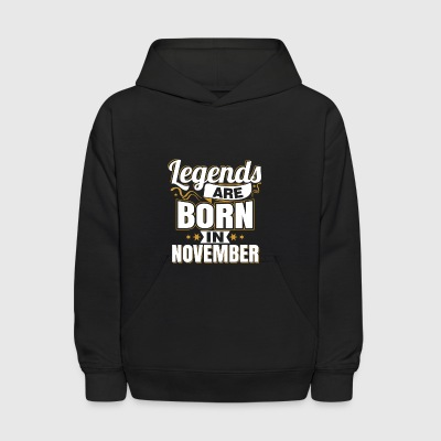 legends are born in november - Kids' Hoodie