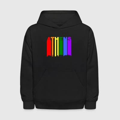 Athens Greece Skyline Rainbow LGBT Gay Pride - Kids' Hoodie