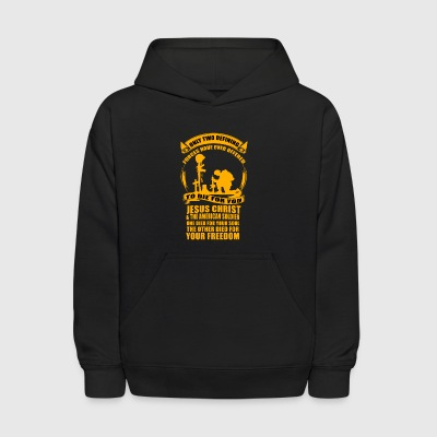 Army and Christian - Jesus Christ and the soldier - Kids' Hoodie