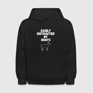 Easily distracted by goats - Kids' Hoodie