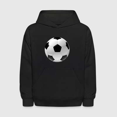 football realistic ball sport - Kids' Hoodie