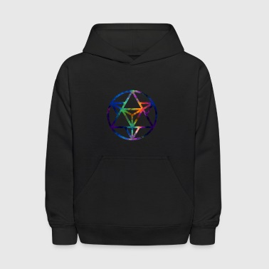 Fractal Sacred Geometry Star Tetrahedro Enlighten - Kids' Hoodie