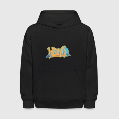 head_graffiti_blue_back - Kids' Hoodie