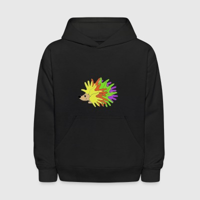 Colorful Hedgehog - Kids' Hoodie
