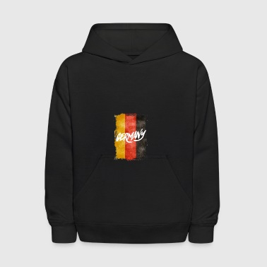 germany grunge Flag germania Soccer Football World - Kids' Hoodie