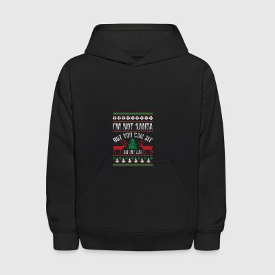 Not Santa But You Can Sit On My Lap Ugly Christmas - Kids' Hoodie