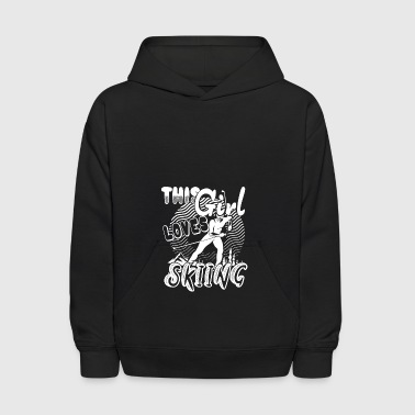 This Girl Loves Skiing Shirt - Kids' Hoodie