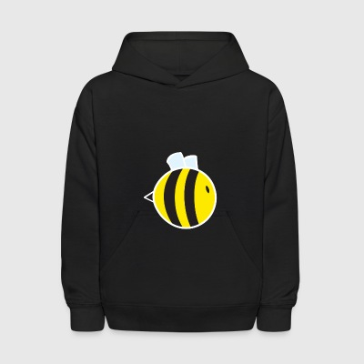 Regular Bee with White Outline - Kids' Hoodie