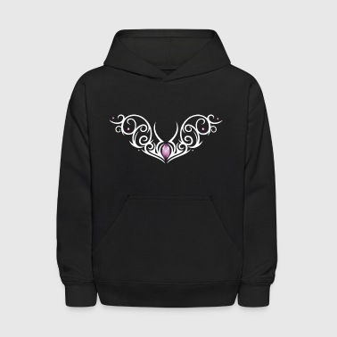 Tattoo tribal ornament with colorful effects. - Kids' Hoodie