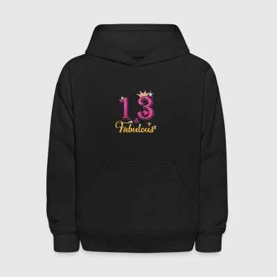 13 Fabulous Queen Shirt 13th Birthday Gifts - Kids' Hoodie
