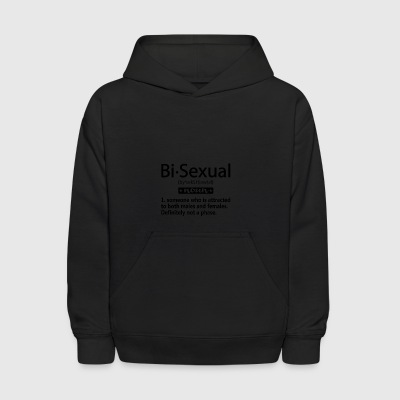Bi sexual t-shirt design. - Kids' Hoodie