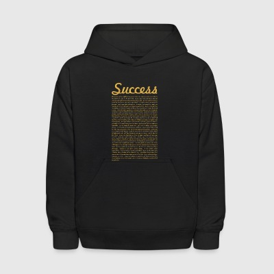 Success... Inspirational Life Quote - Kids' Hoodie