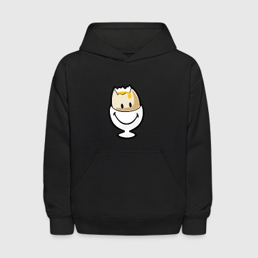 SmileyWorld Hardboiled Egg Broken in Eggcup - Kids' Hoodie