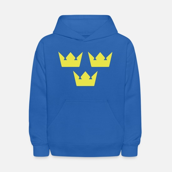 Swedish Hoodies & Sweatshirts - Sweden Coat of Arms | Swedish Sport Shirts - Kids' Hoodie royal blue
