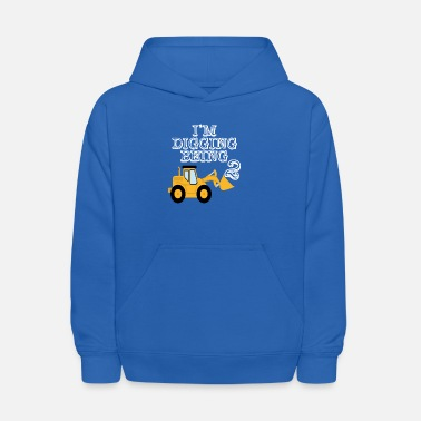 Bulldozer 2nd Birthday Bulldozer Construction - Kids' Hoodie