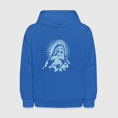 Virgin Mary with a pair of sunglasses - Kids' Hoodie