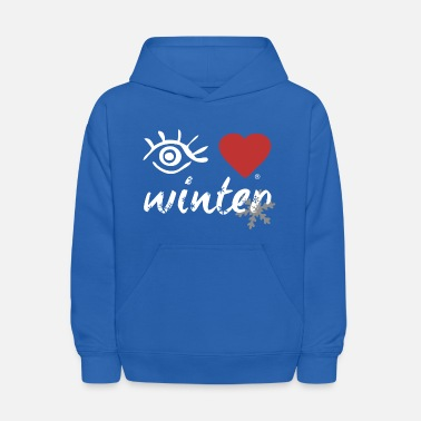 Eye-Love winter - Kids' Hoodie