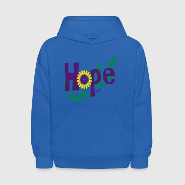 hope_with_sunflower and leafs - Kids' Hoodie