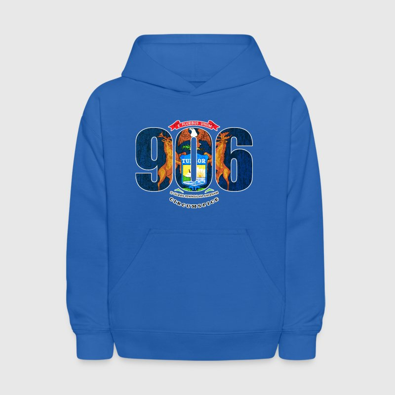 906 Michigan Area Code Flag Clothing Apparel - Kids' Hoodie