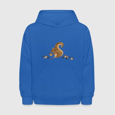 A squirrel with an acorn - Kids' Hoodie