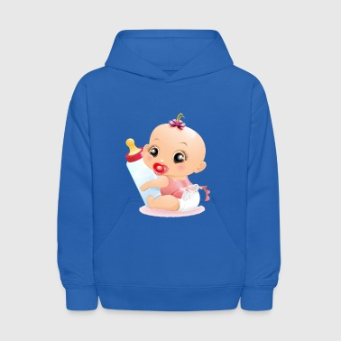infant child baby bottle - Kids' Hoodie