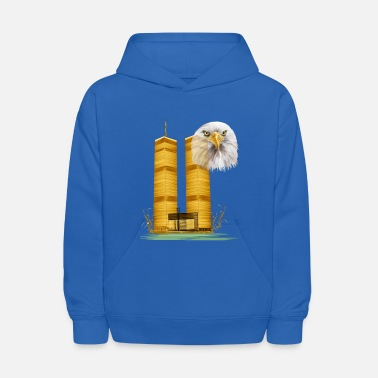 Trade Gold Twin Towers and Eagle - Kids' Hoodie
