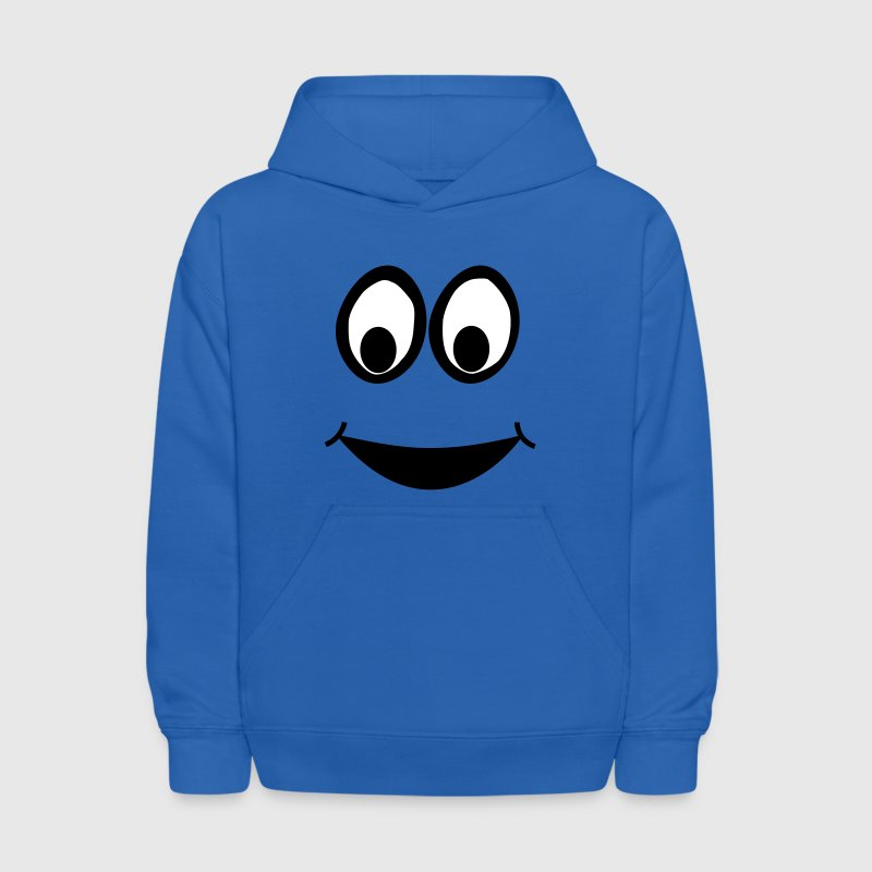 Funny Eyes, Funny Face, Comic Face, Smiley - Kids' Hoodie