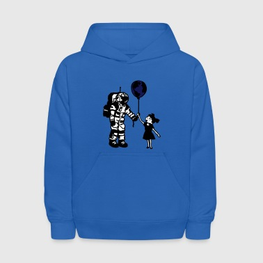 Astronaut Girl and the world - Kids' Hoodie