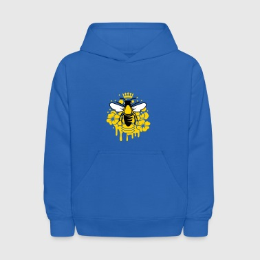 Honey Bee A bee with a crown - Kids' Hoodie