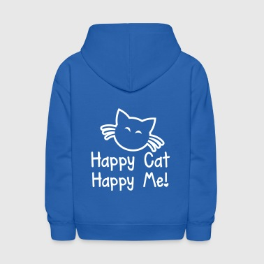 HAPPY CAT HAPPY ME with cute little kitty cat  - Kids' Hoodie