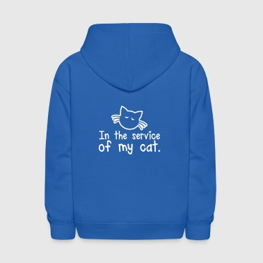 IN THE SERVICE OF MY CAT cute little kitty cat design for laughs - Kids' Hoodie