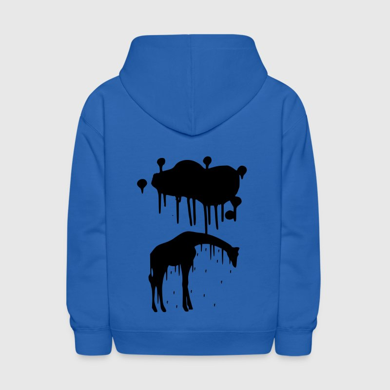 Giraffe Paint Splatter Animal Graphic Design Vector - Kids' Hoodie