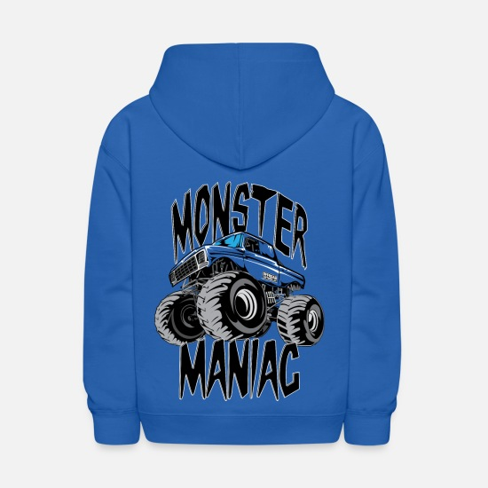 Truck Hoodies & Sweatshirts - Monster Truck Maniac BIG - Kids' Hoodie royal blue