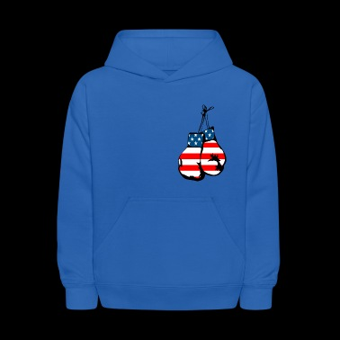 USA flag boxing gloves - Kids' Hoodie