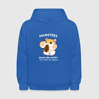 Hamsters Make Me Happy Funny Blushing Hamster - Kids' Hoodie