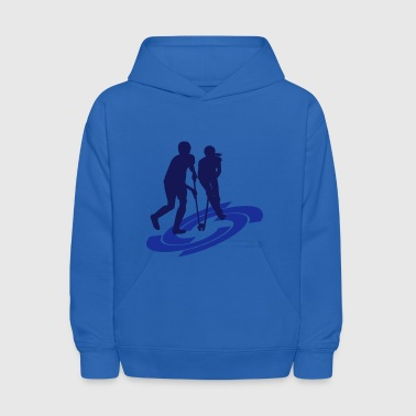 Field Hockey Boy and Girl - Kids' Hoodie