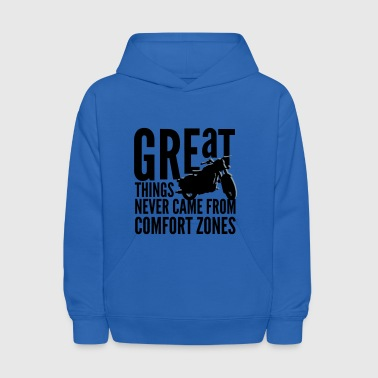 great things motorcycle rider - Kids' Hoodie