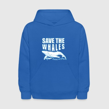 A save the whales T-shirt - Kids' Hoodie