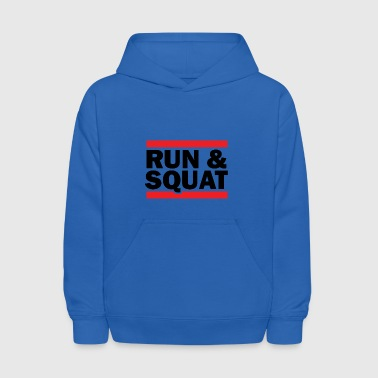Run Squat Black on Light - Kids' Hoodie
