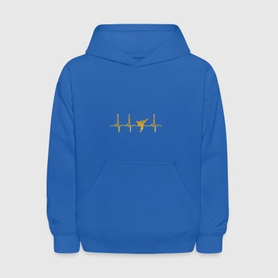 evolution ekg heartbeat karate kickboxen - Kids' Hoodie