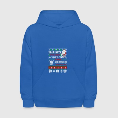 Dear Santa I've Been A Very Good Ironworker - Kids' Hoodie