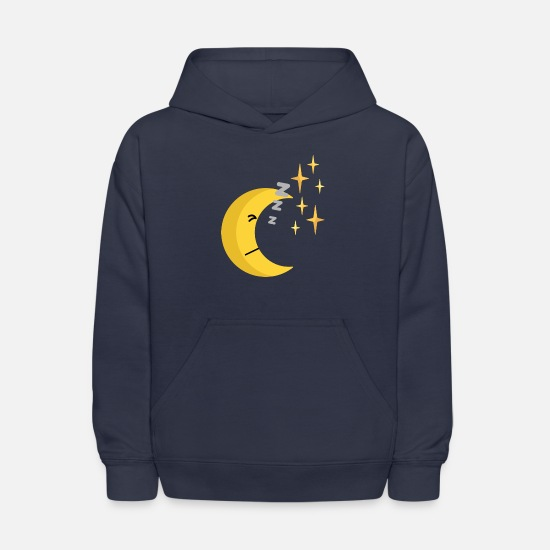 Moon Hoodies & Sweatshirts - sleeping half moon - Kids' Hoodie navy