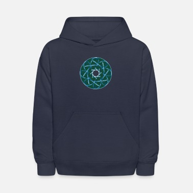 Chakra Rosette from thorns and grass blades mandala 12247 - Kids' Hoodie