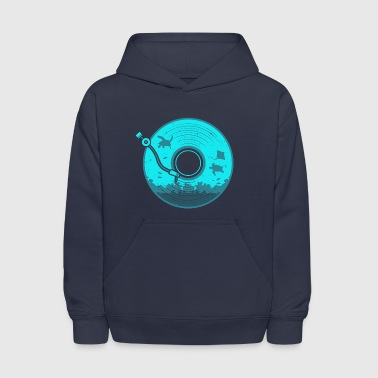 Vinyl with Under Water Scenery - Kids' Hoodie