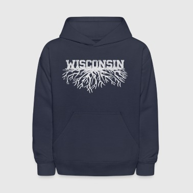Classic Style Wisconsin Home Roots Rooted Clothing - Kids' Hoodie