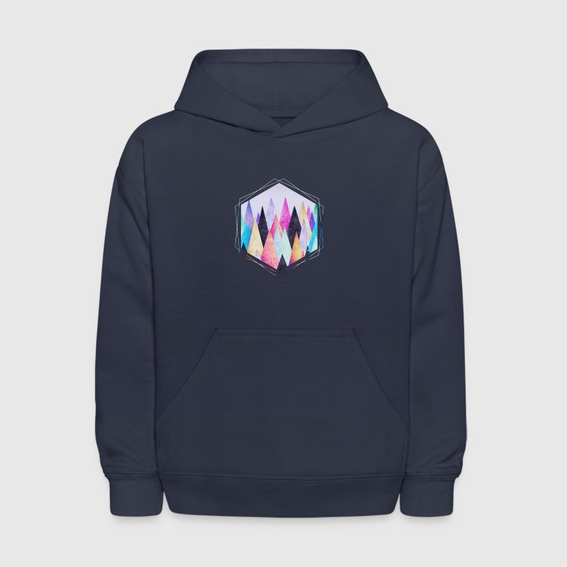 Hipster triangles (geometry) Abstract Mountains  - Kids' Hoodie